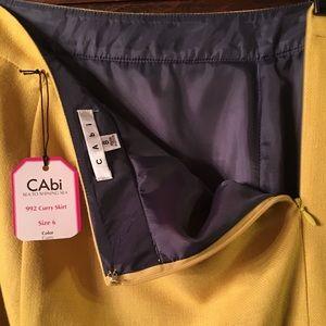 CAbi sea to shining sea curry color skirt NWT